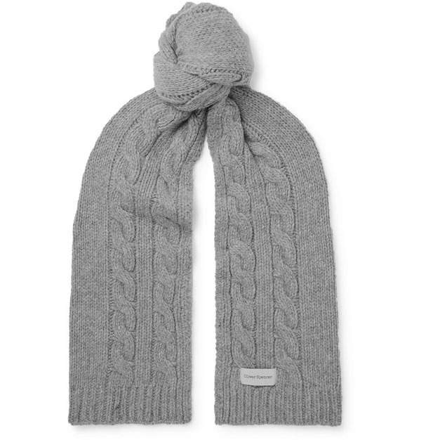 5. Arbury cable-knit wool scarf by Oliver Spencer