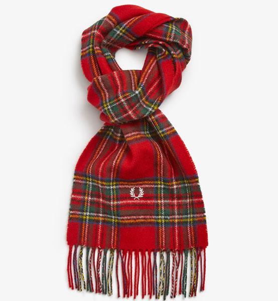 9. Fred Perry tartan scarf range