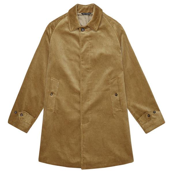 19. John Simons Made In England cord overcoats