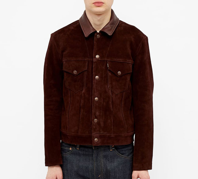 Levi's Vintage Clothing classic trucker jacket in suede