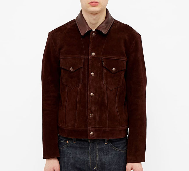 1. Levi's Vintage Clothing classic trucker jacket in suede