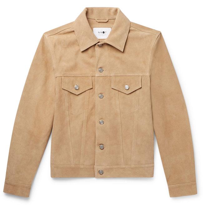 4. Noah slim-fit suede trucker jacket by NN07