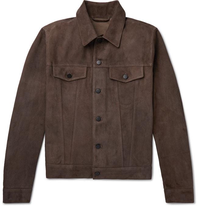 5. Valstar slim-fit suede trucker jacket