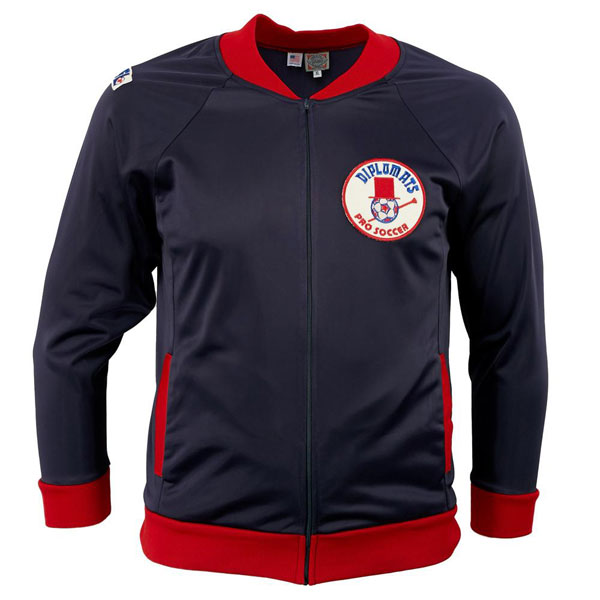 Vintage US soccer track tops by Ebbets Field