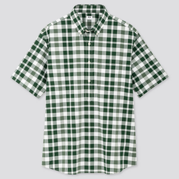Budget button-down popover shirts at Uniqlo