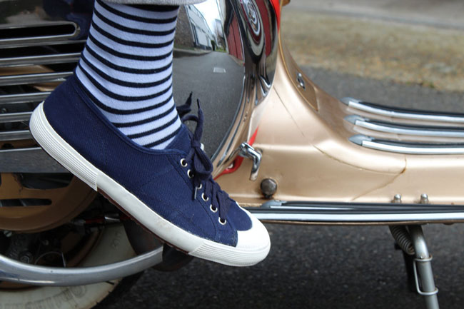 Vintage Italian naval deck shoes at Ham Yard Vintage