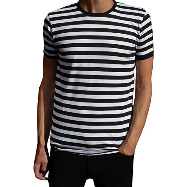 6. Fuzzdandy budget stripe t-shirts