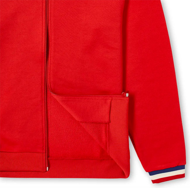 Sweatshirt-style matchday bomber jacket by Fred Perry