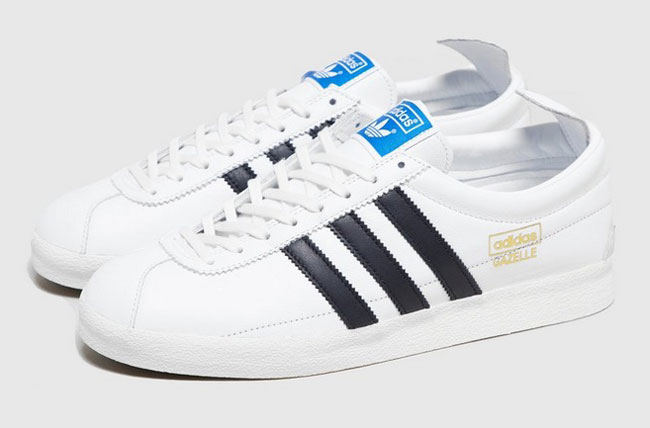 Adidas Gazelle Vintage trainers in white leather