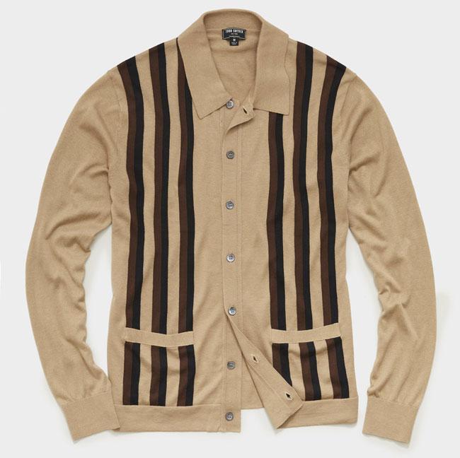 Vintage-style button polo shirt