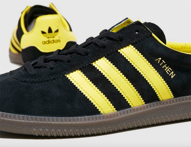 Out now: Adidas Athen trainers in black suede