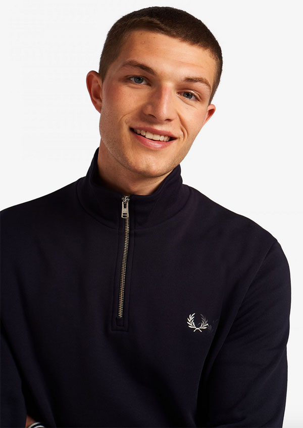 Cycling-style: Fred Perry half-zip sweatshirts