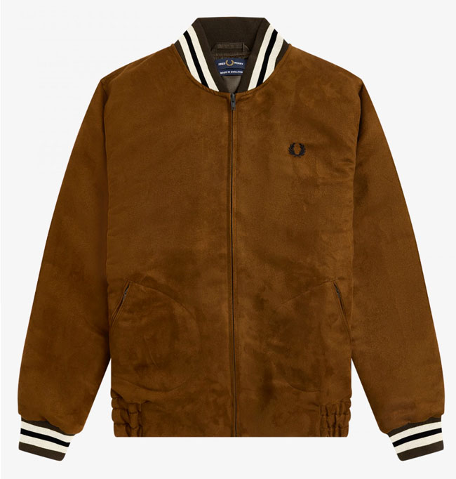 Suedette classic bomber jacket by Fred Perry